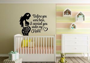 Image Is Loading Quotes For All Mothers Vinyl Stickers Baby Shower
