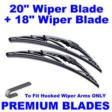 "Premium 20"" Inch & 18"" Inch Pair Front Windscreen Wiper Blades"