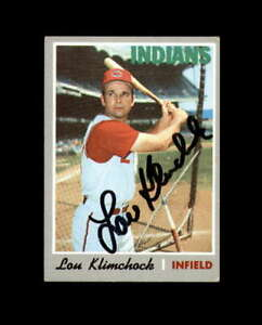 Lou Klimchock Hand Signed 1970 Topps Cleveland Indians Autograph