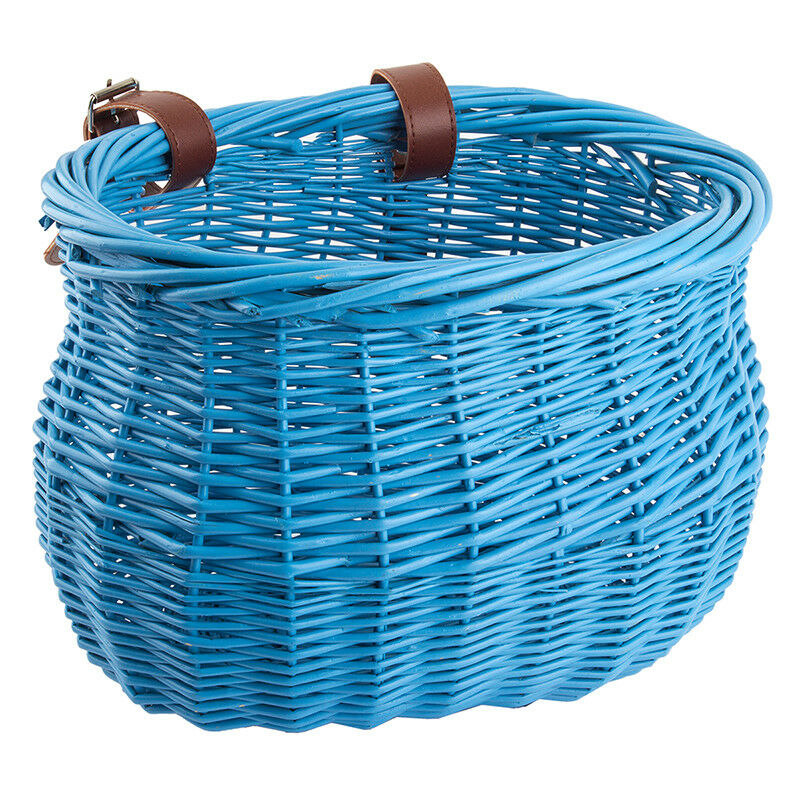 Sunlite Willow Bushel Strap-on Basket Sunlt Ft Willow Bushel blue strap-on 13x8x9