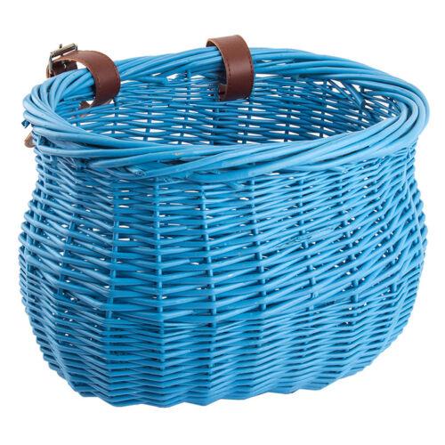 Sunlite Willow Bushel Strap-On Basket Sunlt Ft Willow Bushel Blu Strap-on 13x8x9