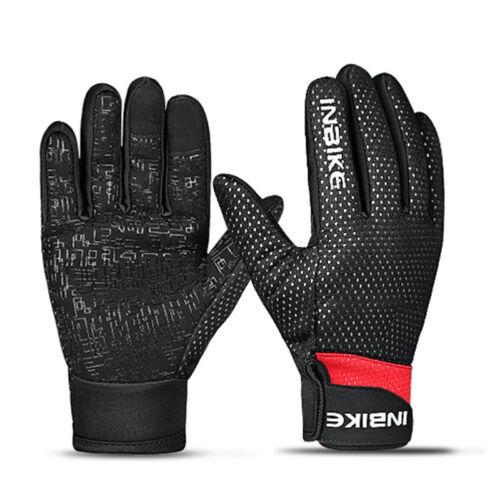 New Adult Waterproof Riding Bike Gel Cycling Full Finger Windproof Gloves Sport