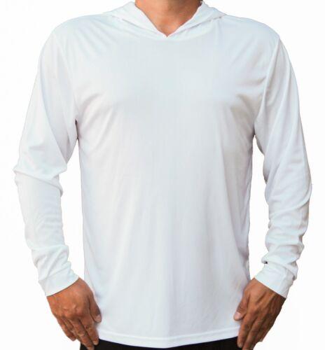 Homme à Manches Longues UPF 50 T-shirt Bateau de Pêche Protection UV Performance à Capuche