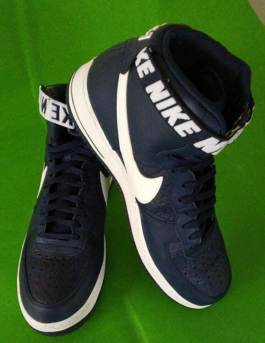 Cheap and beautiful fashion 2018 NIKE AIR FORCE 1 HIGH '07 NBA STATEMENT GAME NAVY BLUE WHITE 315121-414 12