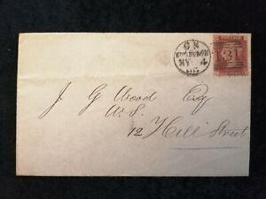 Grossbritannien-Brief-von-1865-Koenigin-Victoria-Buchstaben-in-den-Ecke-Nr-2