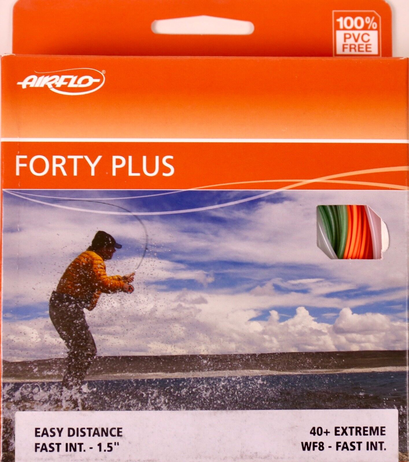 Airflo Forty Plus Extreme WF8 Fast Intermediate Fly Line FREE FAST SHIPPING 40+