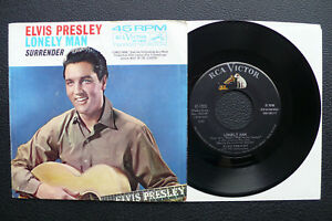 7-034-Elvis-Presley-Surrender-Lonely-Man-USA-RCA-w-Pic