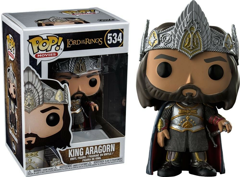 King Aragorn Exclusive POP Funko the The Lord of the Funko Rings 760462