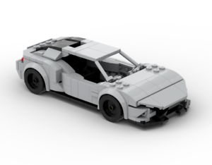 Custom LEGO Lamborghini Huracan Instructions and Parts List Only