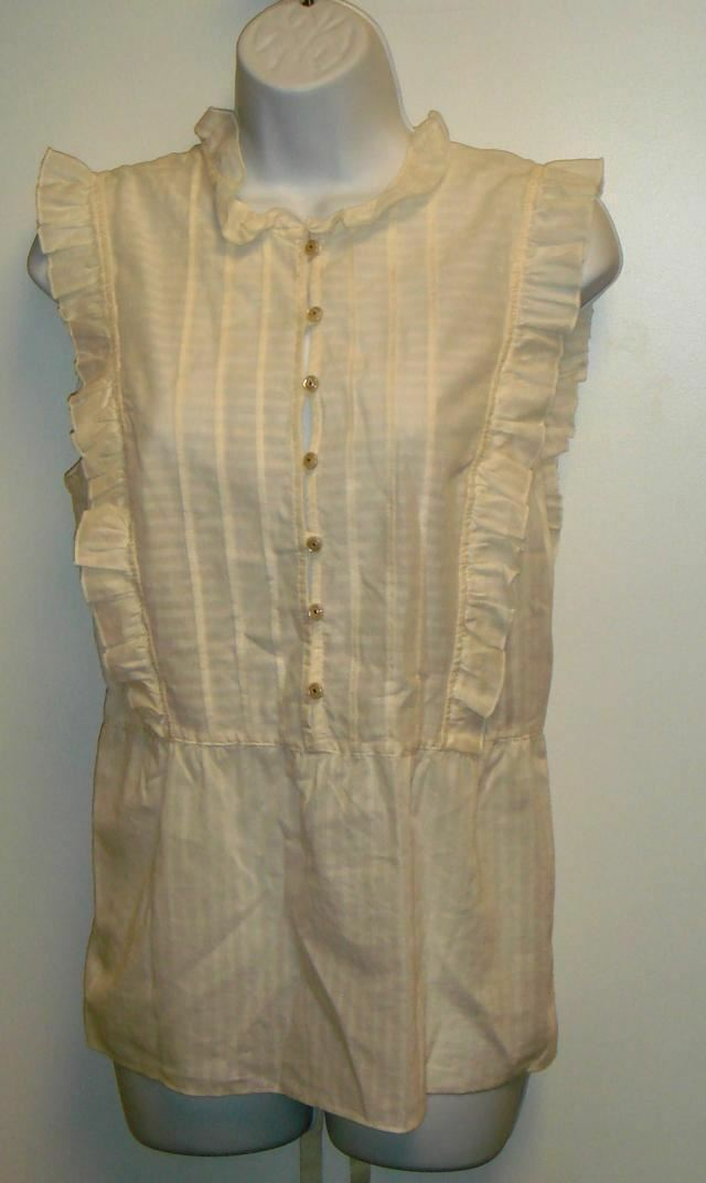 NWT AUTH MARC JACOBS  SLEEVELESS RUFFLED SHIRT 6