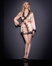 AGENT PROVOCATEUR AMELEA PINK / BLACK PYJAMA TOP GOWN SMALL / AP2 / 8-10 BNWT