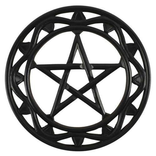 En Bois Noir Pentagramme Star Wall Art 30 cm Sorcière Wicca Celtique Magic