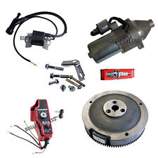HONDA GX390 13HP GX340 11HP ELECTRIC START KIT FLYWHEEL STARTER KEY SWITCH COIL