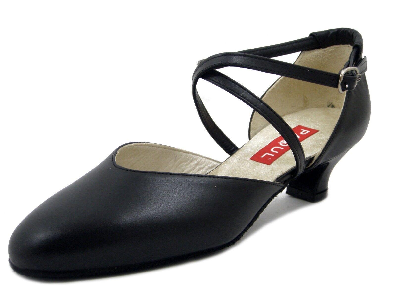 PAOUL Scarpe Donna da Ballo Standard in Pelle Nero Tacco Basso 4 cm 18T40