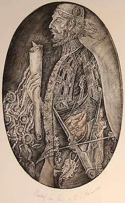 TRINITY CATHEDRAL IN SAINT PETERSBURG Original Etching by Leonid STROGANOV Russ