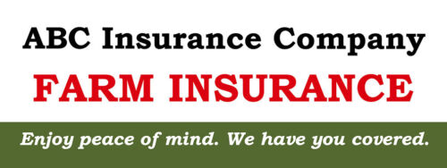 Insurance Company Farm Insurance Custom DECAL STICKER Retail Store Sign