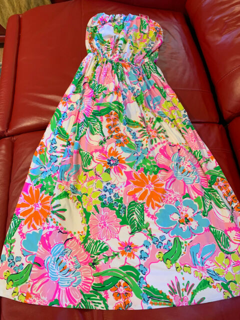 LILLY PULITZER for TARGET NWT 1X PLUS SIZE NOSEY POSEY MAXI DRESS RARE NEW