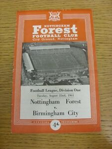 22-08-1961-Nottingham-Forest-v-Birmingham-City-folded-Thanks-for-viewing-our