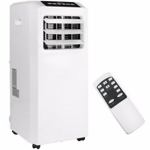 Portable-8000-BTU-AC-Air-Conditioner-Dehumidifier-Fan-A-C-Unit-with-Remote-White