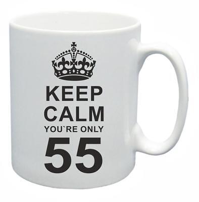 55th. Regalo Compleanno Novità Tazza Da Tè Keep Calm Il Tuo Solo 55 Tazza Di Caffe'-