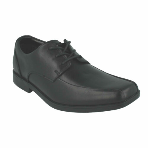 HOXTON CHAP SENIOR BOYS BOOTLEG CLARKS LACE UP LEATHER SCHOOL COLLEGE SHOES