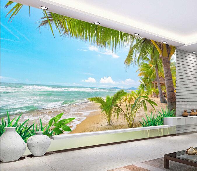 3D Tropical Beach 755 Wall Paper Murals Wall Print Wall Wallpaper Mural AU Kyra