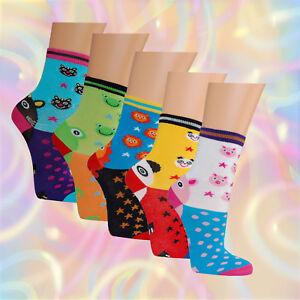 5-10-Paar-Kinder-Socken-Sorgenfresser-Lustige-Tiere-Struempfe