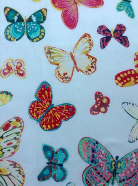 "Schumacher Fabric Sample ""Butterfly""  35 cm long x 137 cm Designed by LULU"