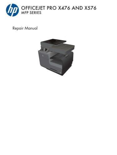 HP Officejet Pro X476 Parts /& Diagrams X576 Service Manual