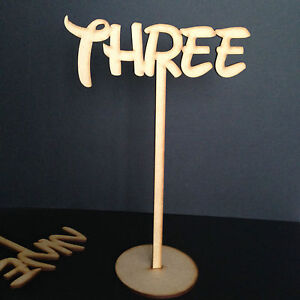 Freestanding-Disney-Wooden-Table-Numbers-Balloon-Weights-Wedding-Craft-MDF