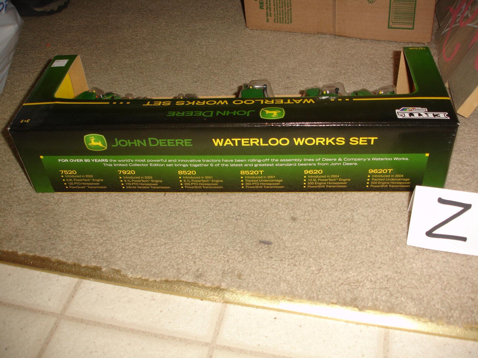 1 64 John Deere Waterloo Works 6-piece Tractor Set - new in box