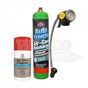 Details about AIR CON Cleaner Car Air Conditioning Recharge R-134a Air Con  Refill DIY KIT