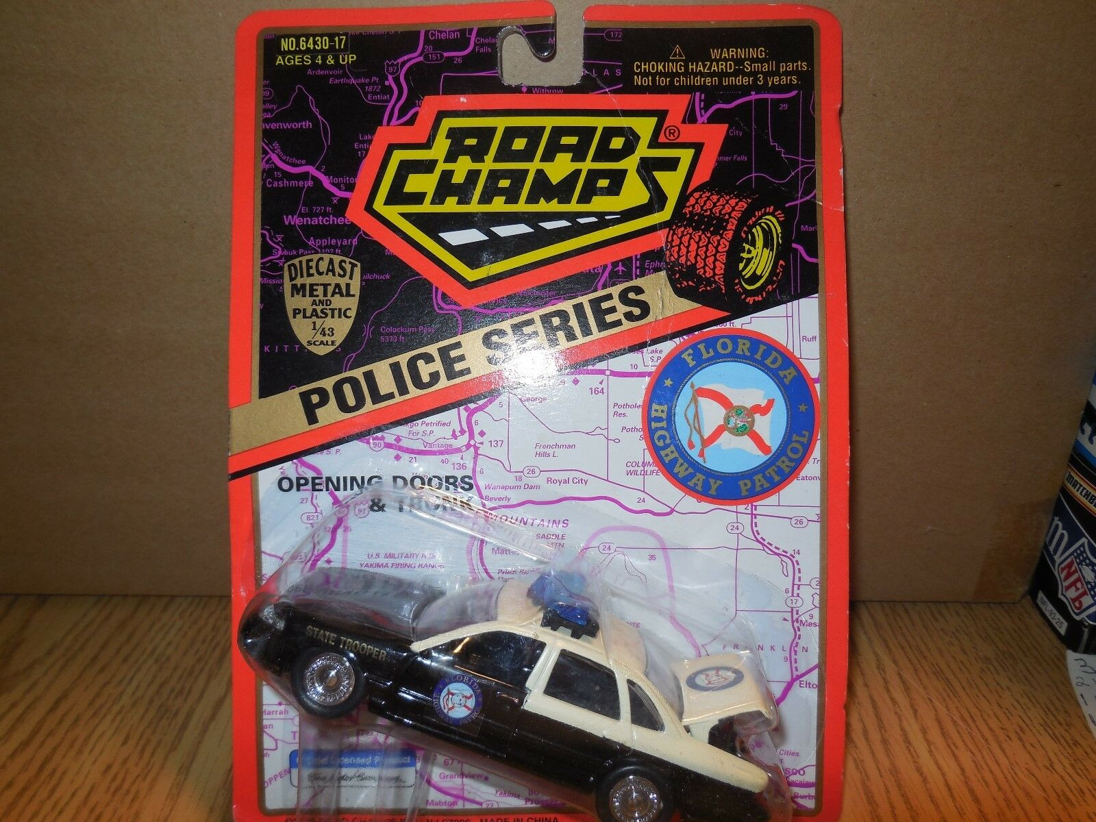1 1995 road champs florida highway patrol patrol patrol  car - 1 43 scale 517162