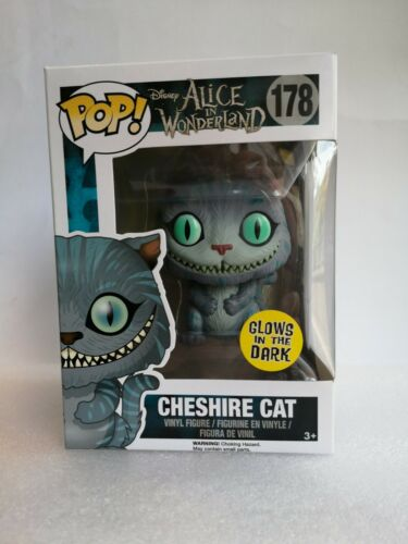 Funko Pop Disney Alice au pays des merveilles Cheshire Cat Brille Dans Le Foncé Nº 178