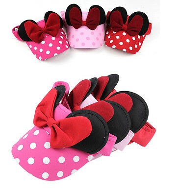 Children Baby Girl Kids Polka Dot Visor Sun Hat Bowknot Cap Beanie Headwear Caps