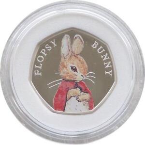 2018 Beatrix Potter Flopsy Bunny 50p Fifty Pence Silver Proof Coin Box Coa - London, United Kingdom - 2018 Beatrix Potter Flopsy Bunny 50p Fifty Pence Silver Proof Coin Box Coa - London, United Kingdom
