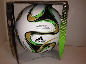 buy online 22913 c7f40 Image is loading Adidas-Brazuca-Official-Final-Match-Soccer-Ball-Argentina-