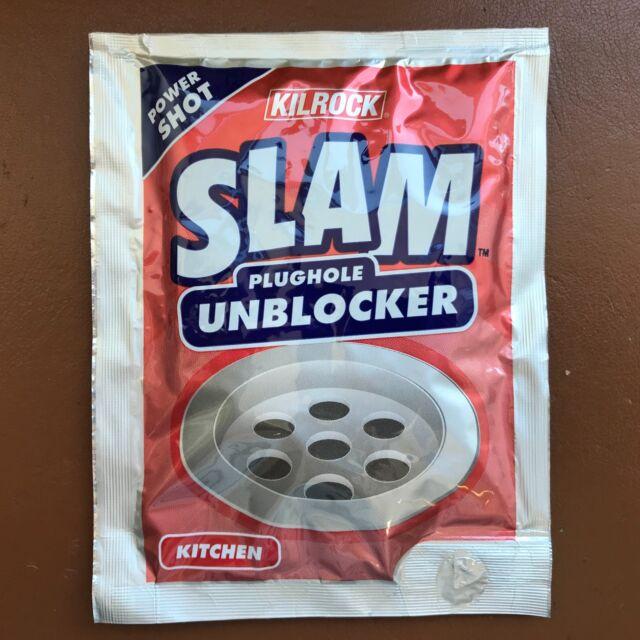 NEW KILROCK SLAM Plughole Bath Room Shower Kitchen Clogged Sink Drain Unblocker