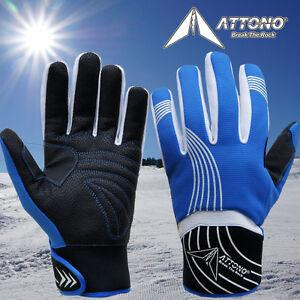 Skihandschuhe von ATTONO Ski Snowboard Handschuhe Herren Damen Gr: 7,8,9,10,11
