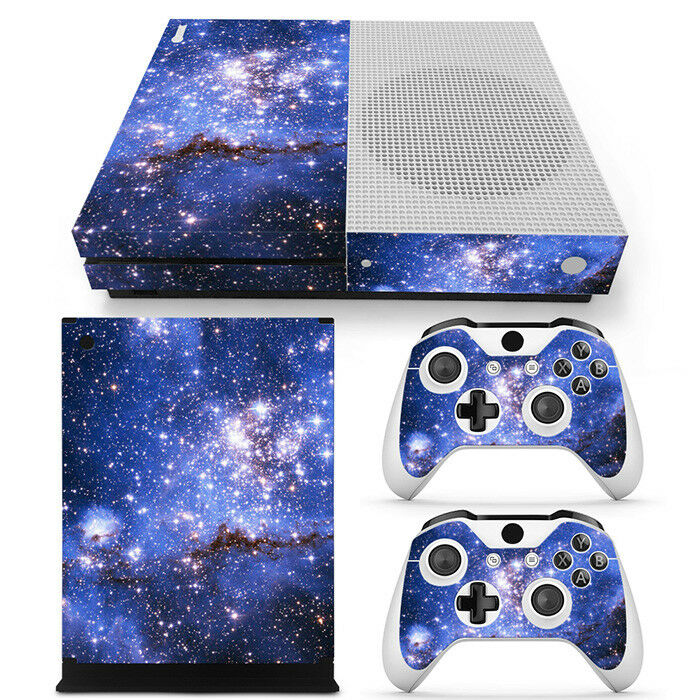 Galaxy Space Starry DECAL Skin Sticker for Xbox One S Console &2 controllers Set