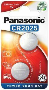 2-x-Panasonic-CR2025-Lithium-battery-3V-165mAh-Knopfzelle-Blister