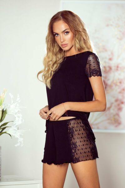 Damen Pyjama NICOLA Nachtwäsche Nachtkleid Schlafanzug Viskoze 2Tlg Stickerei