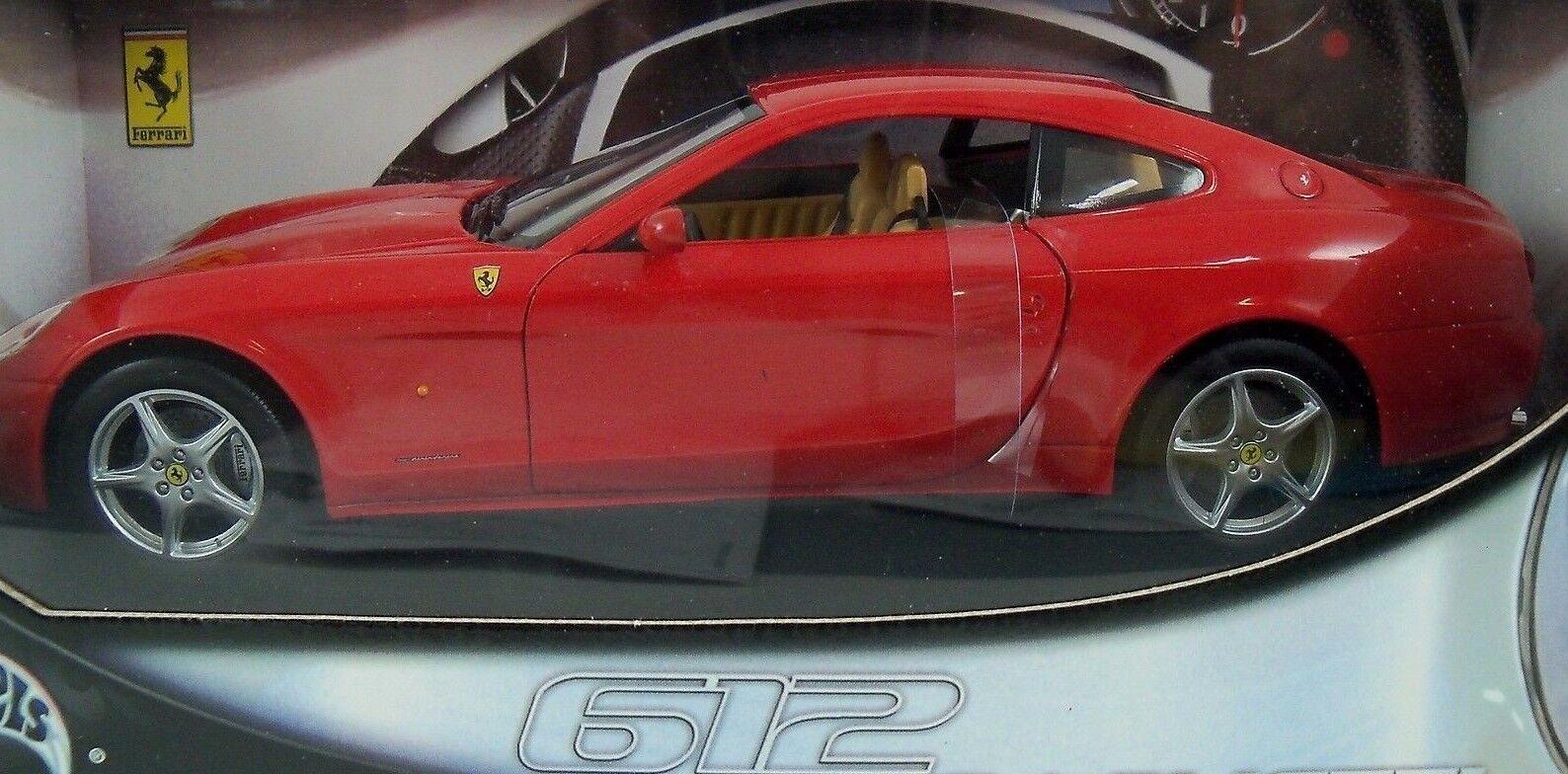 Hot Wheels rojo Ferrari 612 Scaglietti Scaglietti Scaglietti 1 18 coche 52f12c