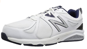 New Balance Men's Casual Comfort Training shoes White Navy MX857WN2 Pick Size NIB