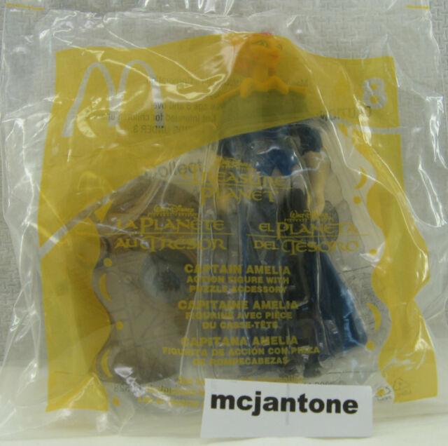 MIP McDonald's 2002 Treasure Planet #8 CAPTAIN AMELIA Toy Disney CAKE TOPPER