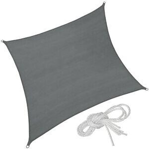 Vele Parasole Solare Protezione Raggi UV Telo Quadrata Arredamento Grigio Nuovo