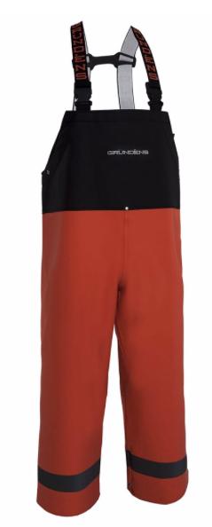 Grundens Balder 504 la pêche commerciale Bib Pantalon, Orange, Größes  L, B504
