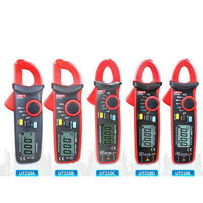 UNI-T UT210 Digital Clamp Meter Multimeter Handheld RMS AC//DC Mini Resistanc NEW