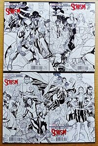 X-Men Schism #1-4: X-Printing, Connecting Sketch Covers
