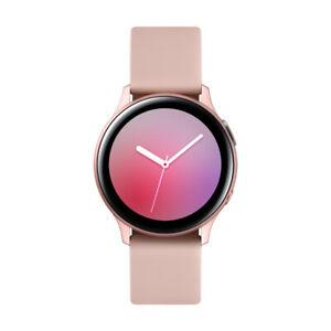 Samsung Galaxy Watch Active2 Bluetooth 40mm Boîtier en Aluminum avec Bracelet Rose Velours Montre Connecté (SM-R830NZDAXEF)